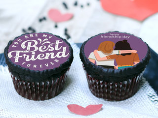 Friendship Day Poster Cupcakes