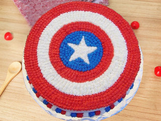 Round-Shaped Captain America Cake