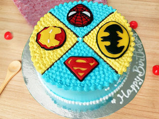 Dynamic Superhero Cake