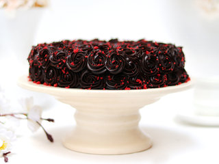Side View of Red Velvet Chocolate Cake