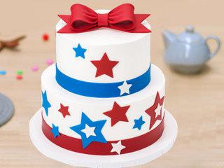 2 Tier Captain America Cake