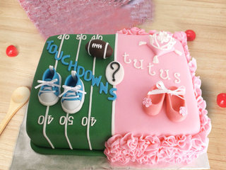 Baby Shower Theme Cake for Boy and Girl