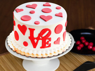 Multi flavored Alive By Love fondant cake