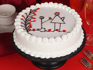 Hearty Caricature Cake