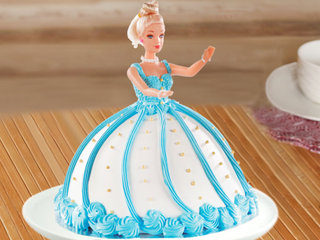Multi flavored barbie bash theme cake
