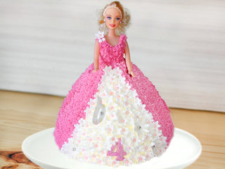 Barbie Theme Cake For Girl Birthday