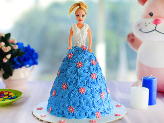 Barbie Doll Cream Cake