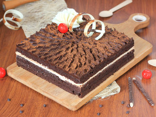 Delicious choco coffee cake