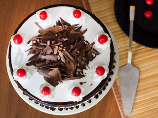 Top View of Black Forest Cake