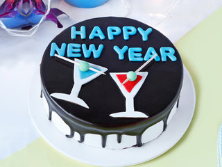 Black Forest New Year Cake