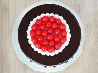 Top View of Cherrilicious Twist Cake