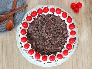 Top view of Classic Blackforest Cake