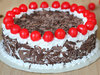 Side View of Black Forest Round Cake