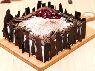 Zoomed view of Vegan Black Forest Cake