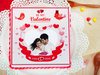 Blissful Love - A valentine personalised cake