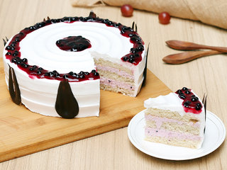 Sliced View of Scrummy Blueberry Cake