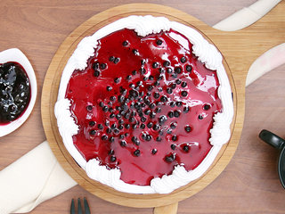 Chopped Blueberries N Blueberry Puree Round Cake