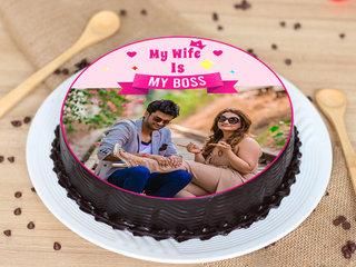 Boss Wife Photo Cake