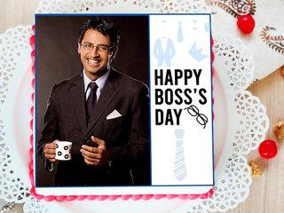Happy Boss Day Photo Cake
