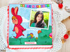 Bunny Blossoms - Photo Cake for Kids