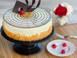 Butterscotch Cake-Round Shape Butterscotch Cake