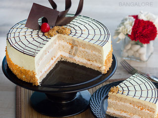Sliced View of Butterscotch Cake