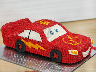 McQueen Racer - Car Theme Birthday Cake