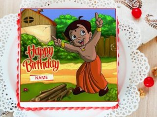 Chota Bheem Kids Photo Cake