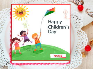 Happy Childrens Day Poster Cake