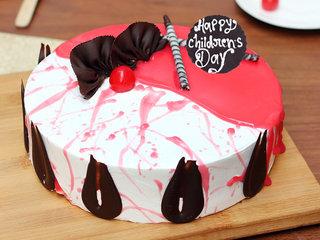 Childrens Day Strawberry Vanilla Cake