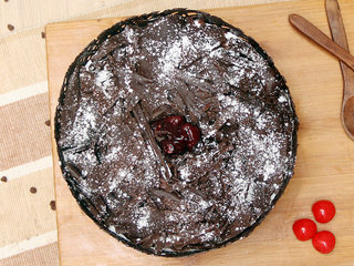 Top View of Choco Black Forest Cake