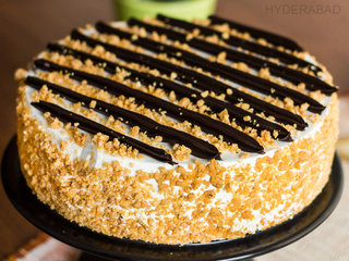 Zoom View of Chocolate Butterscotch Cake