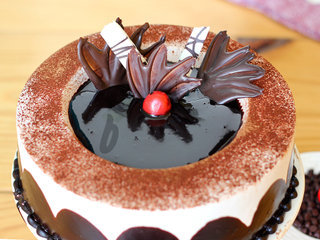 Zoomed View of Chocolate Light Cake