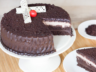Sliced View of Choco-Thrill Chocolate Mud Cake
