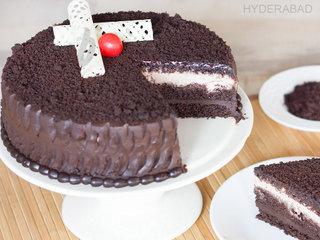 Sliced View of Chocolate Mud Cake