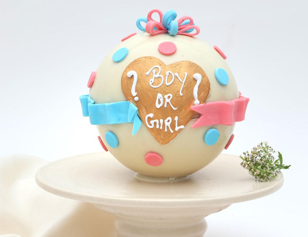 Baby Shower Chocolate Truffle Pinata Cake