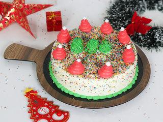 Christmas Tree Vanilla Cake