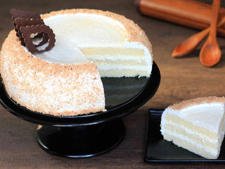 Sliced View of Coconut Cake