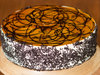 Zoomed View of Round Chocolate N Coffee Cake