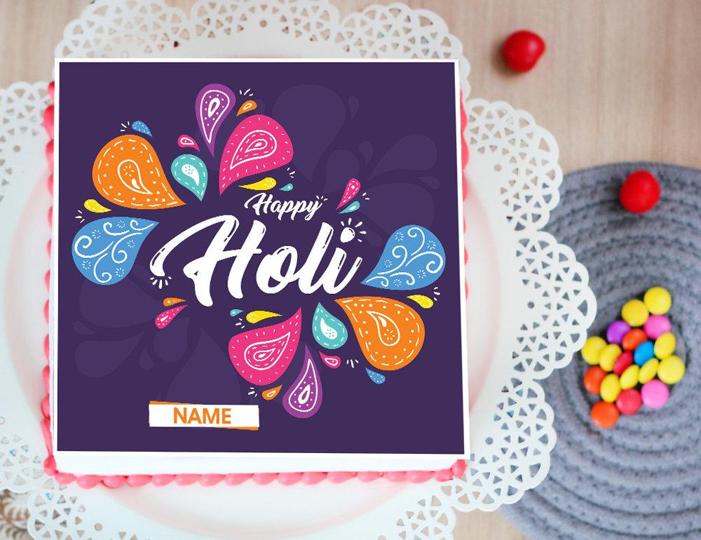 Colorful Holi Poster Cake