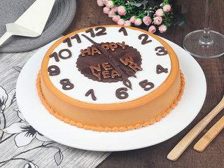 Delicious happy New Year fondant cake