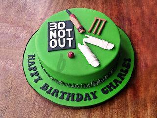 Cricket Theme Cake For Birthday