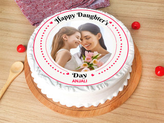 Happy Daughters Day Photo Cake