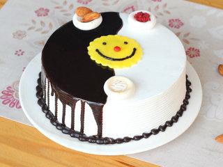 Choco Vanilla Rakhi Special Cake - Side View