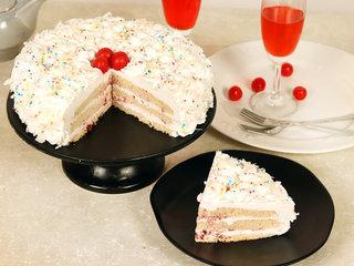 White Forest Cake Slice