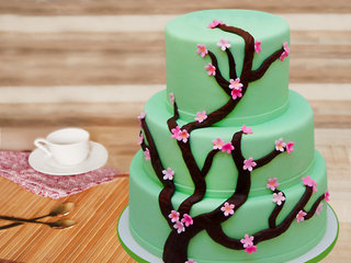 Three tier forest cake