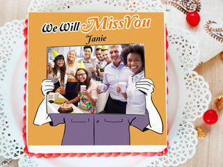 Bid You Farewell - A Farewell Photo Cake