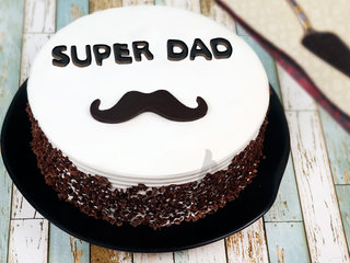 Moustache Cake for Dad