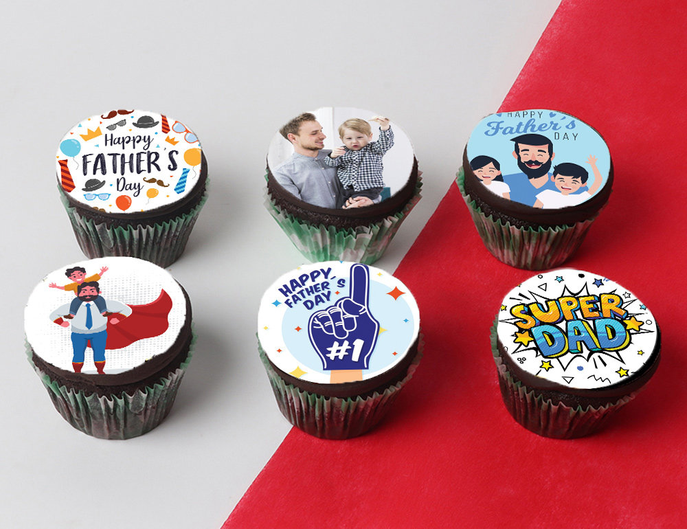 Fathers Day Personalized Cupcakes Set Of 6