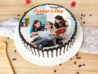 Fathers Day Photo Cake